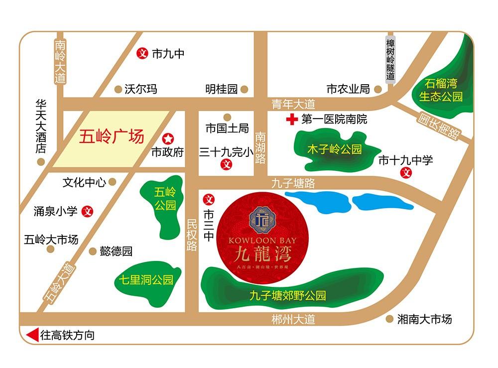 九龙湾位置图