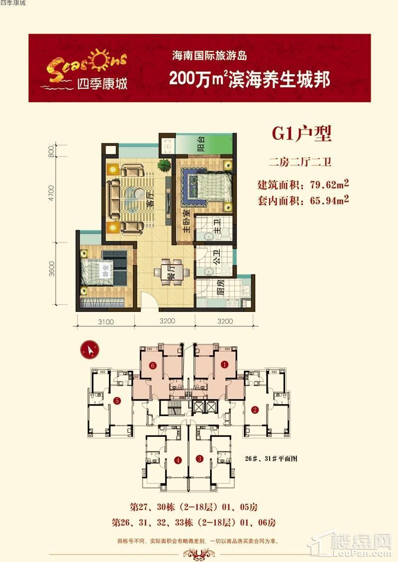 四季康城CD区G1户型图