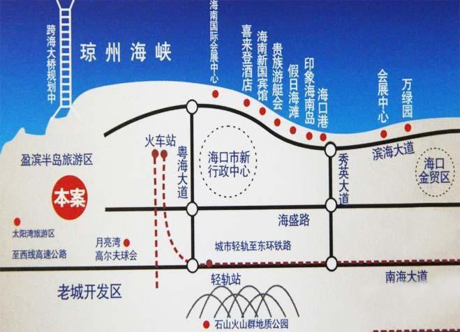 四季康城位置图