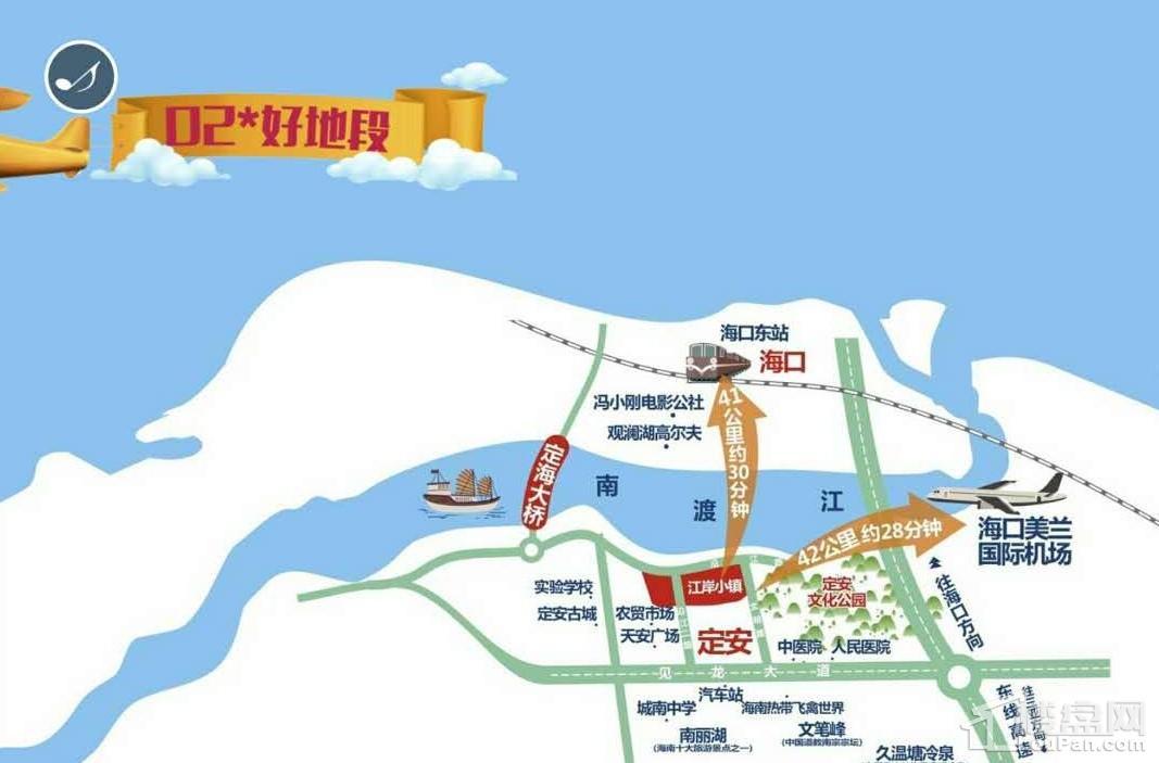 江岸小镇位置图
