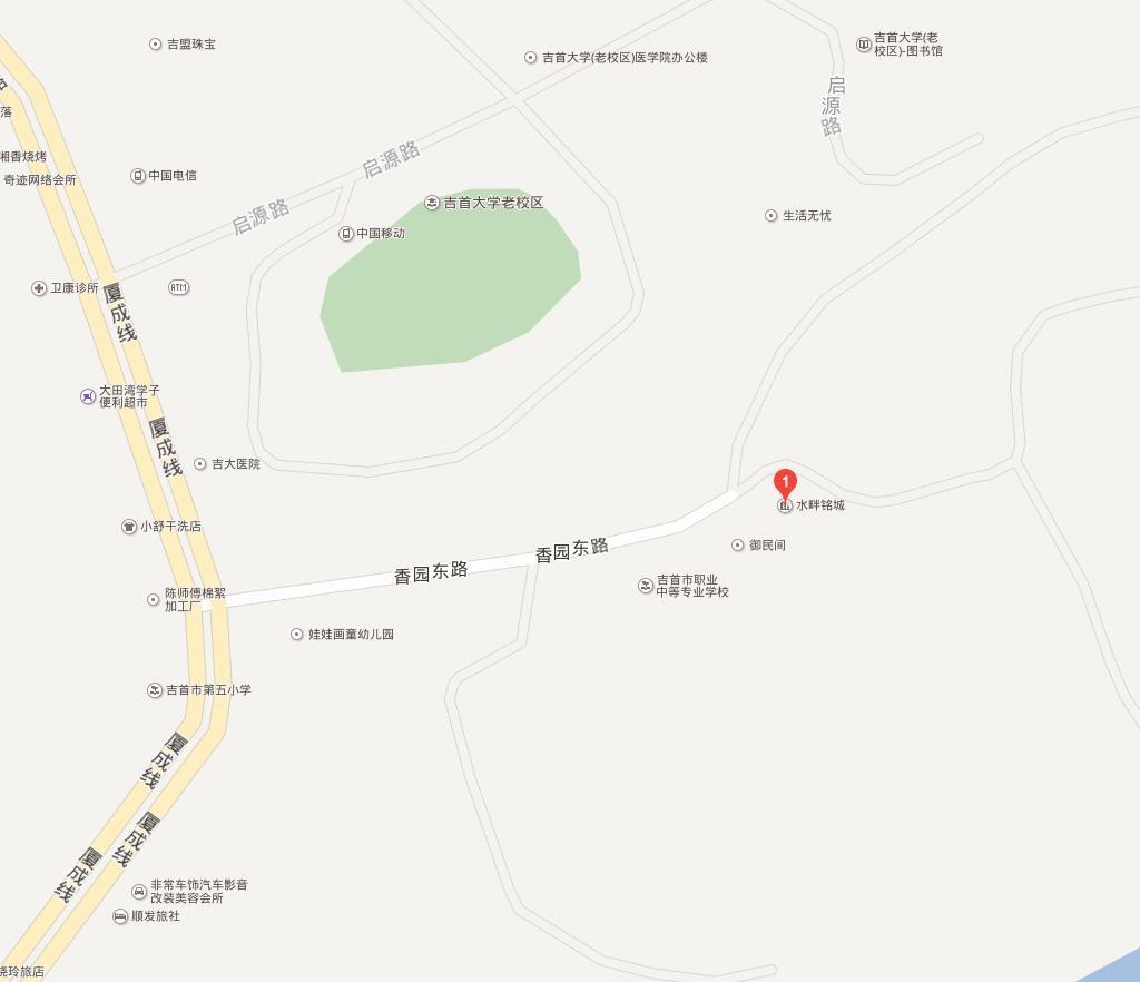 水畔铭城位置图