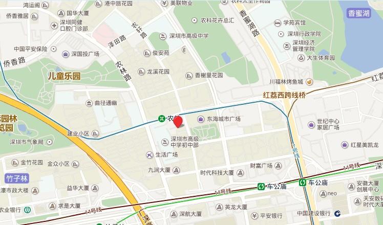 蓝山国际公寓位置图