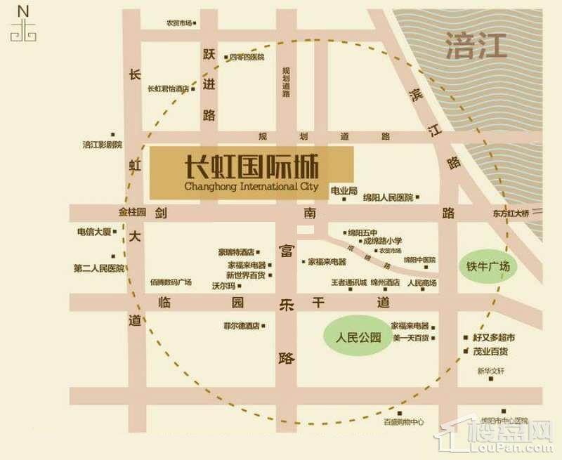 长虹国际城2期位置图