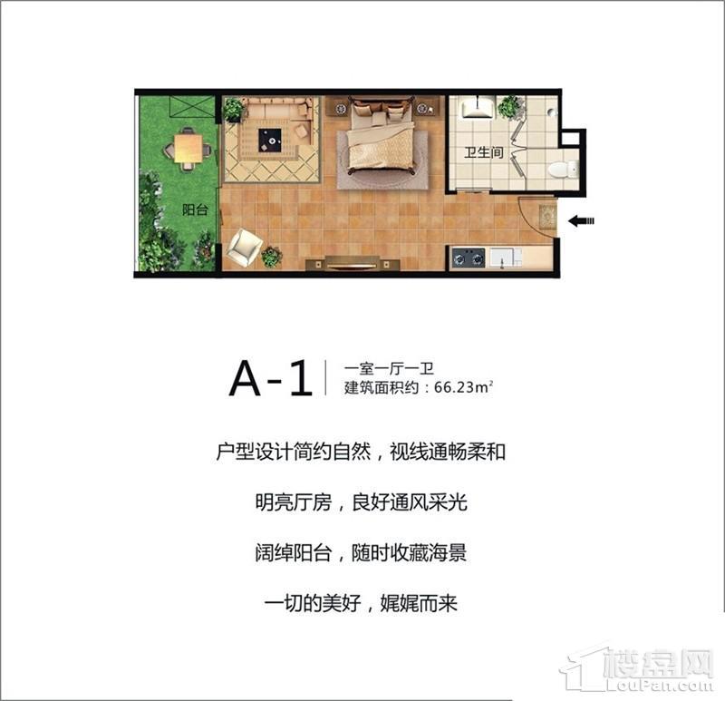 珠江澄品A-1户型图