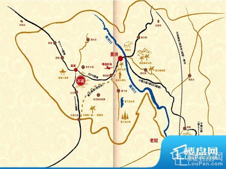 勐巴拉国际旅游度假区位置图