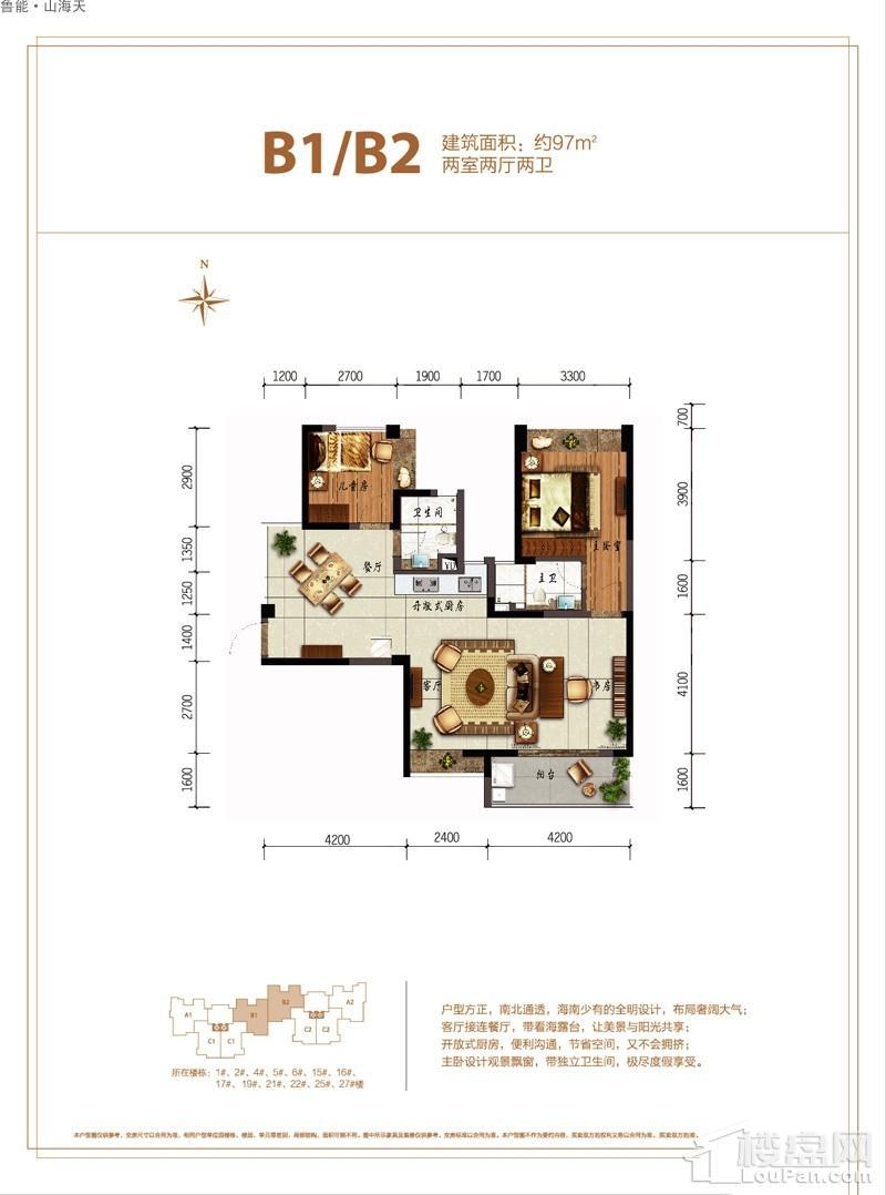 鲁能·山海天-淇水湾5号B1/B2户型图