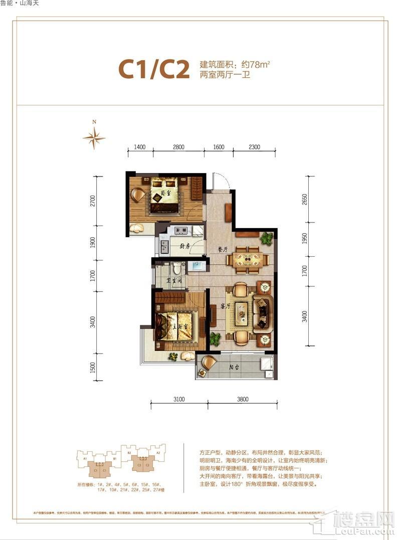 鲁能·山海天-淇水湾5号C1/C2户型图