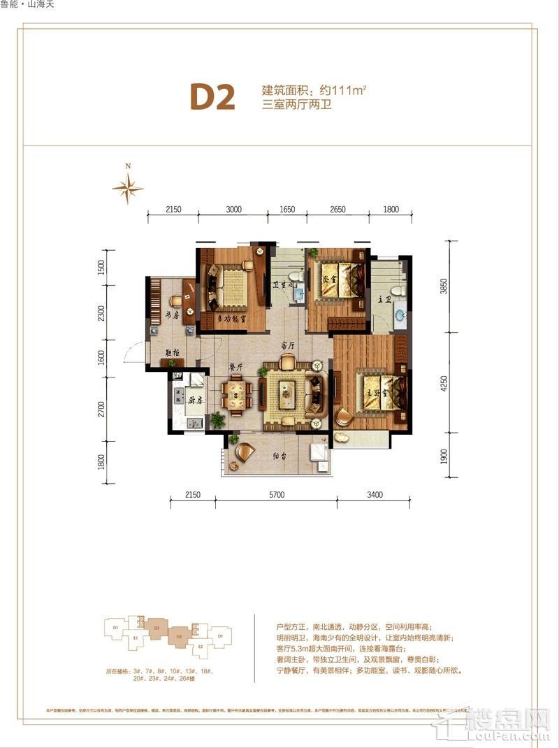 鲁能·山海天-淇水湾5号D2户型图