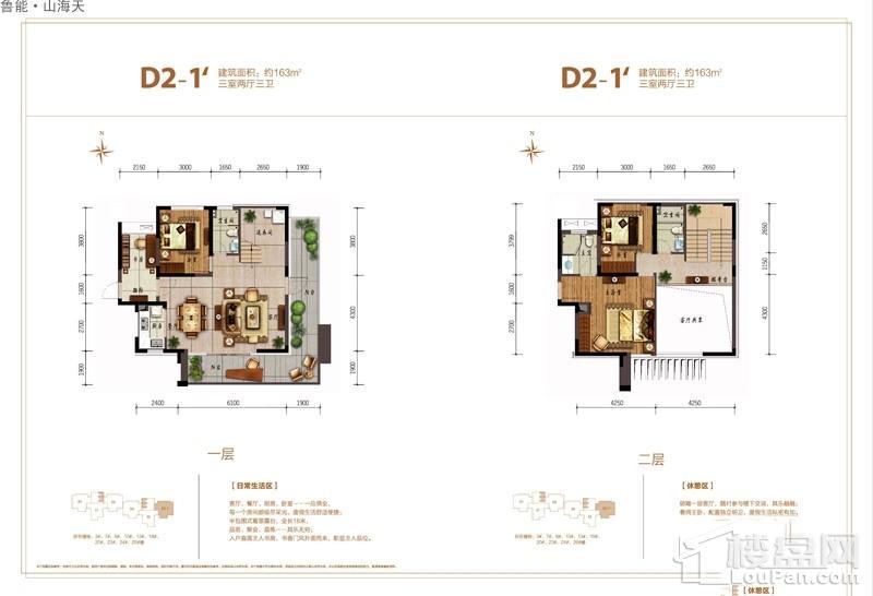 鲁能·山海天-淇水湾5号D2-1'户型图