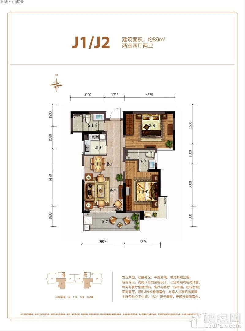 鲁能·山海天-淇水湾5号J1/J2户型图