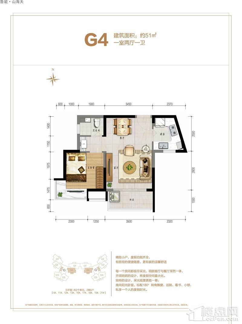 鲁能·山海天-海石滩2号G4户型图