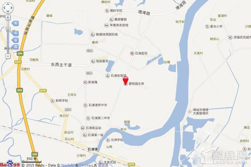 碧桂园豪进左岸位置图
