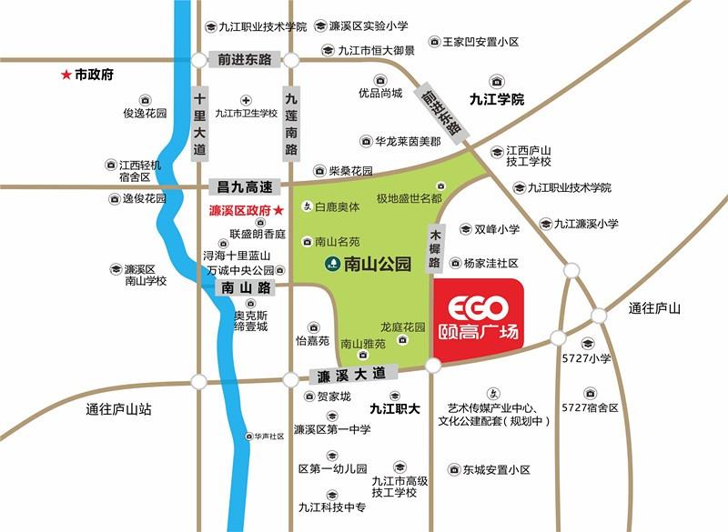 九江颐高广场位置图