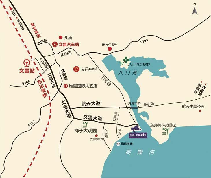 宏图·高龙湾1号位置图