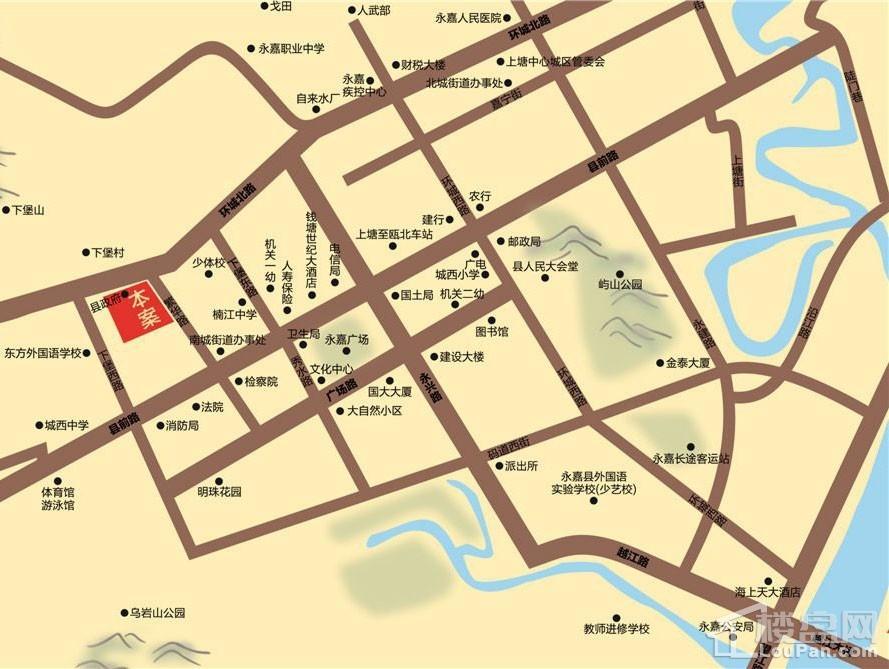 嘉成·银座位置图