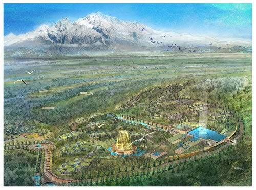 金茂谷镇实景图