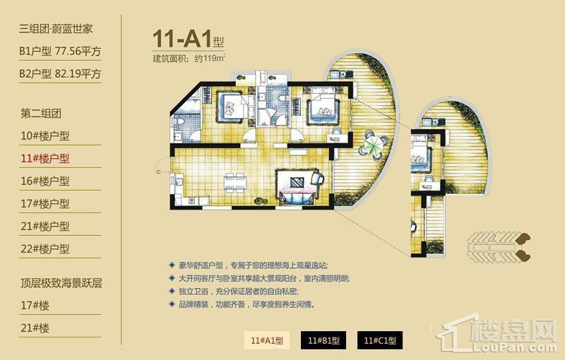 逸龙湾二组团11#楼A1户型
