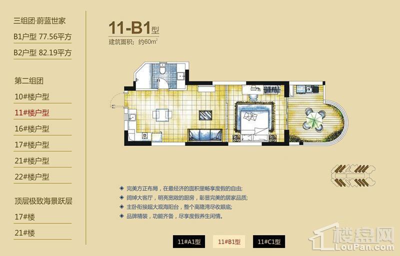 逸龙湾二组团11#楼B1户型