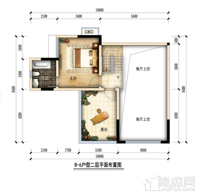 金润城B6二层户型