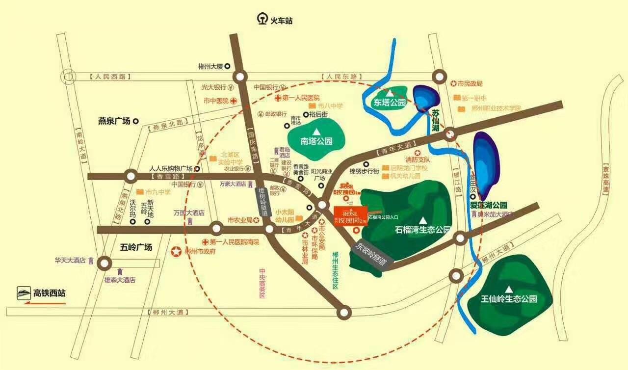 玫瑰园位置图
