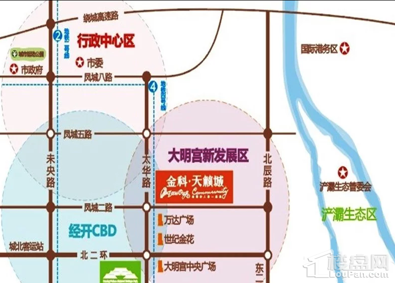 金科天籁城公寓位置图