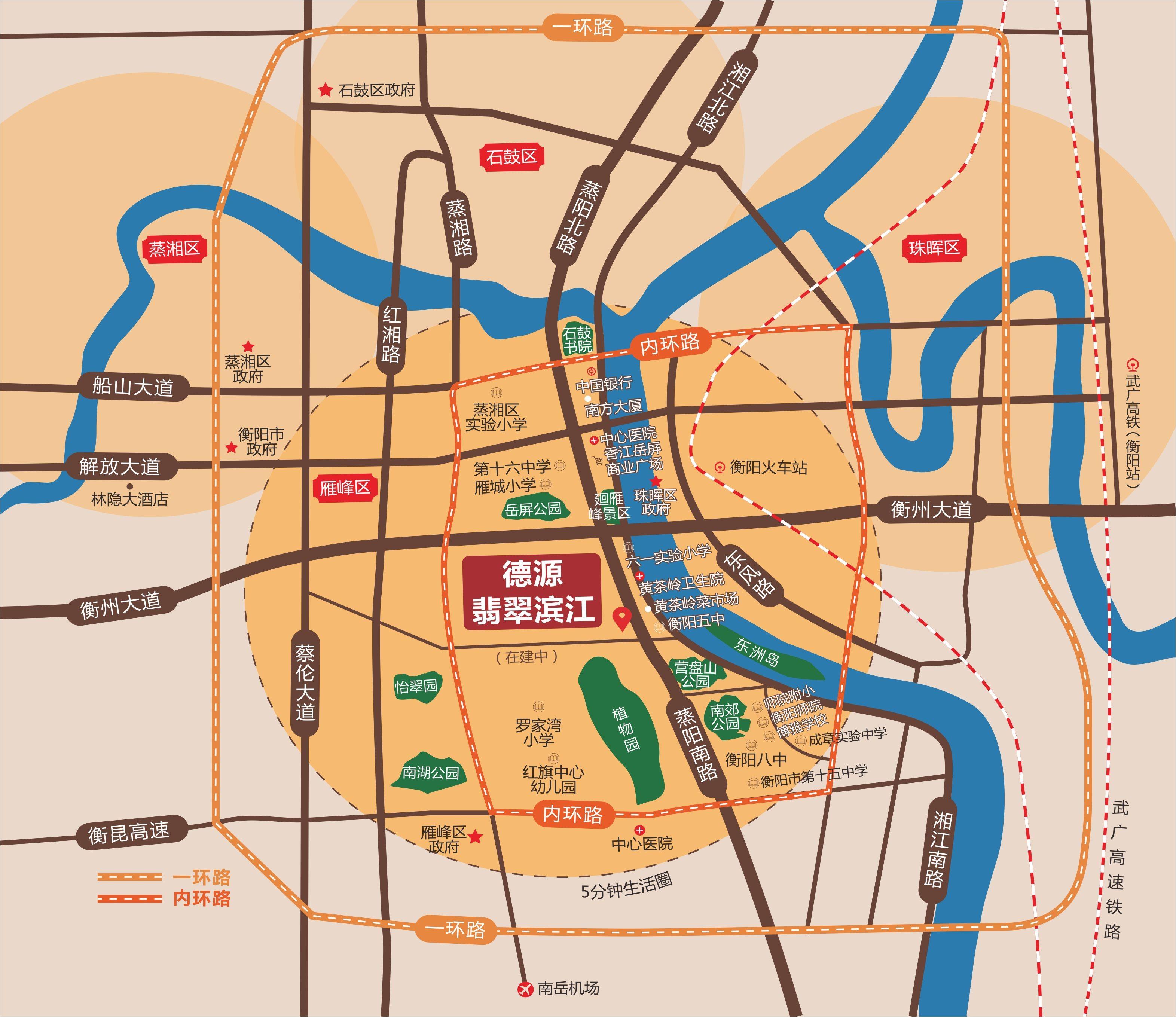 德源·翡翠滨江位置图