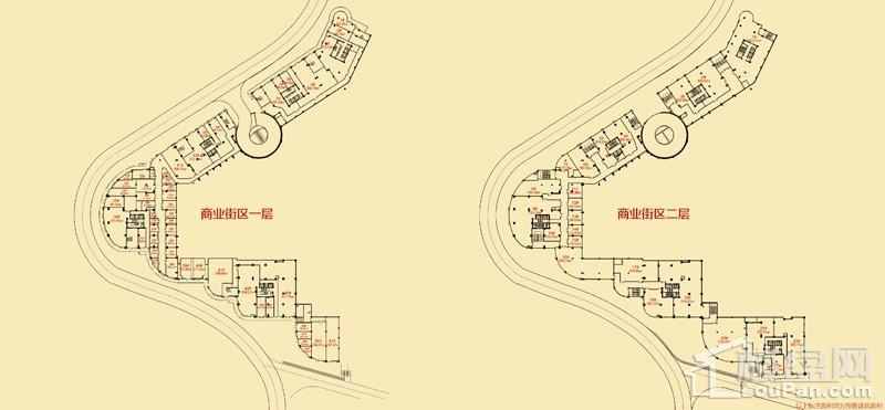 隆鑫·港湾国际-滨江商业街户型图
