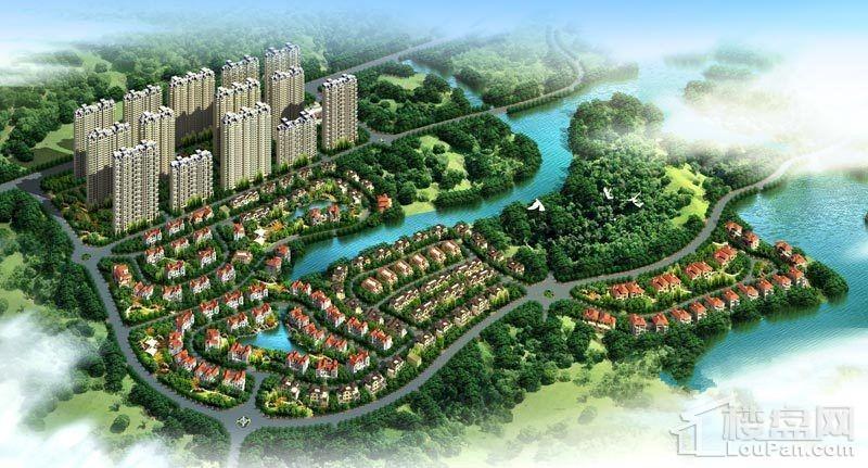 碧桂园山湖城鸟瞰图
