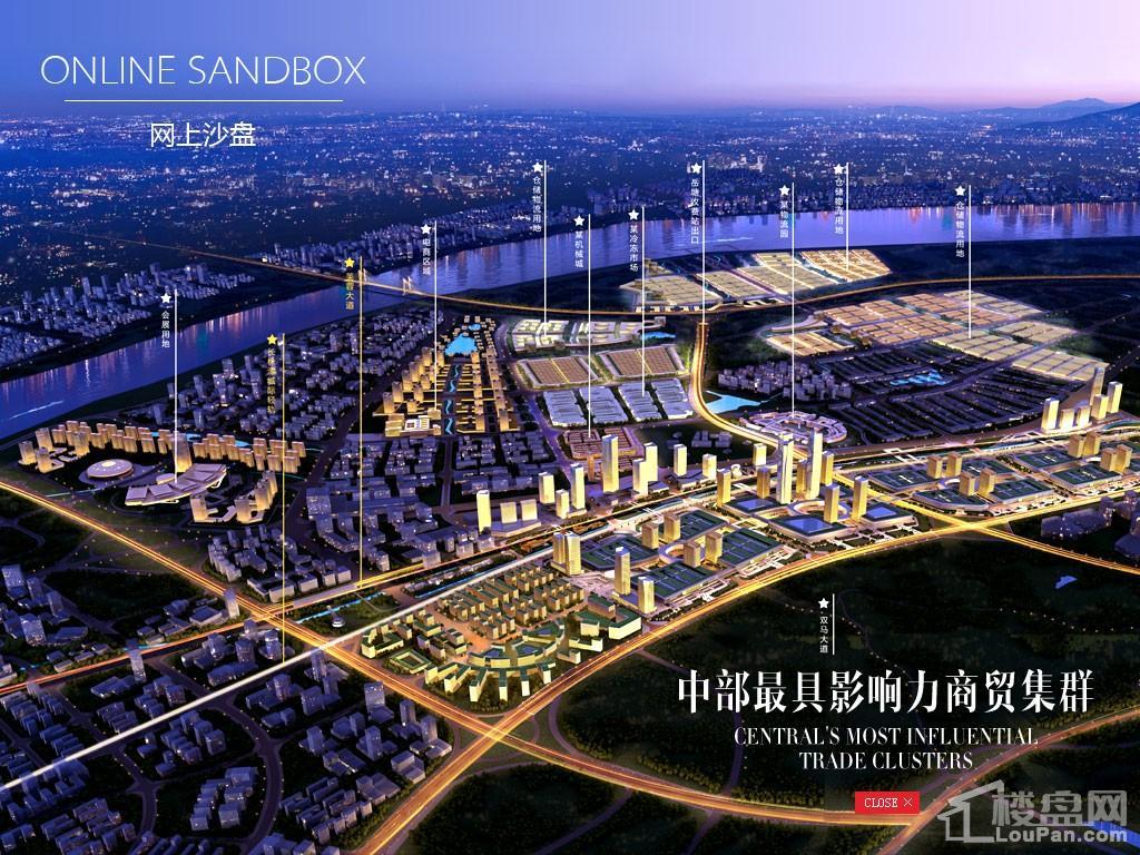 中国中部岳塘国际商贸城效果图
