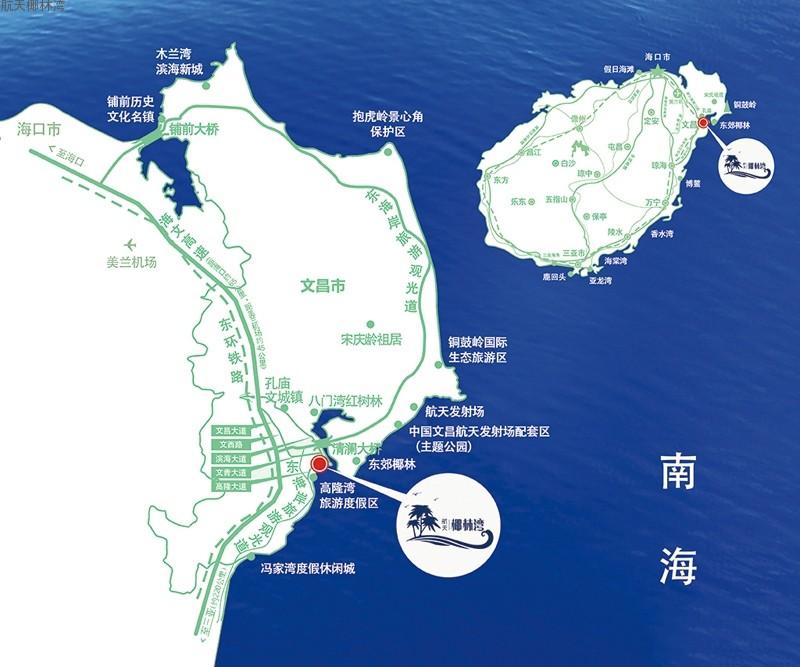 航天椰林湾位置图