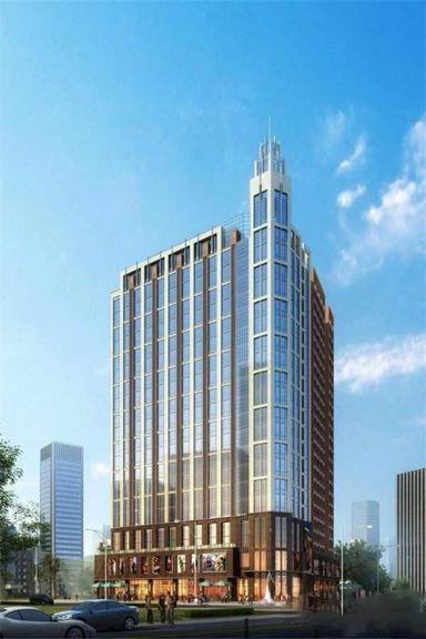 清新商务大厦效果图