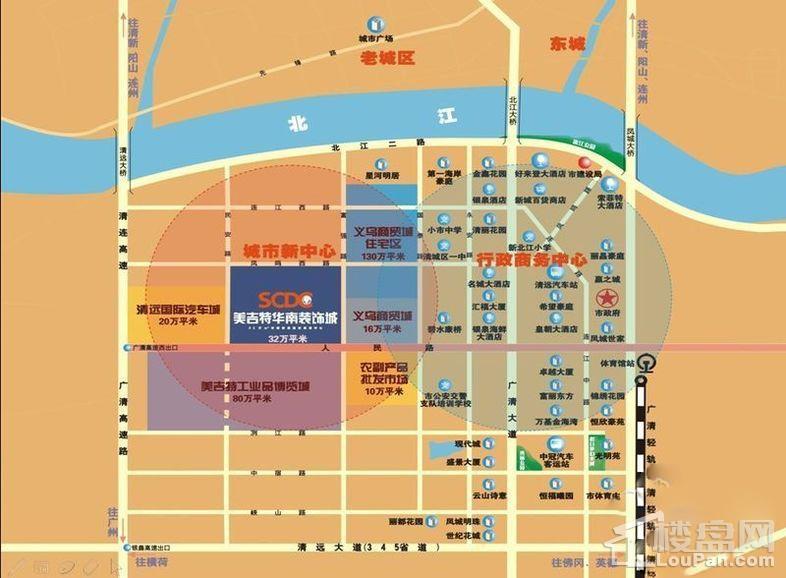 美吉华特南装饰城位置图