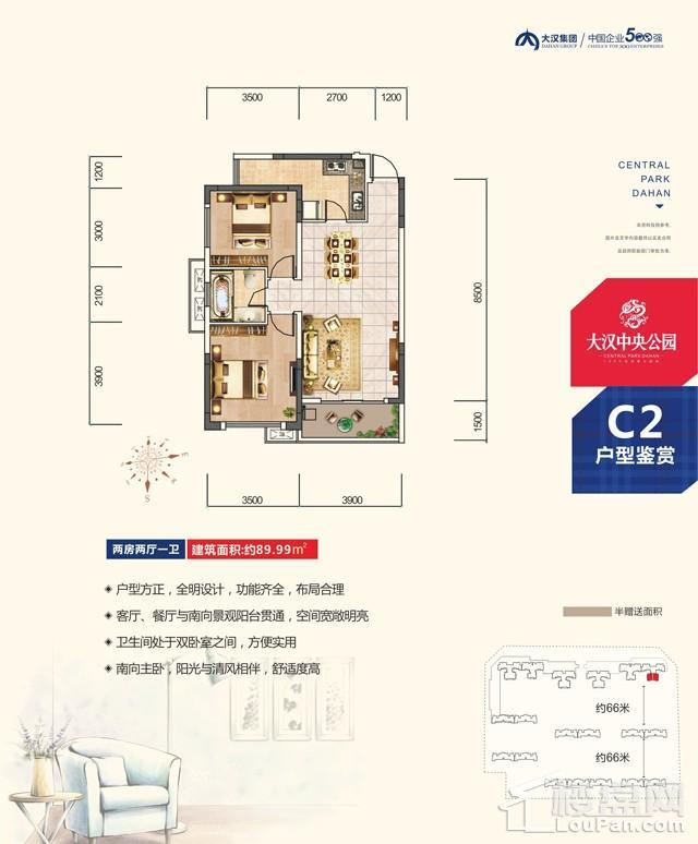 大汉新城三期c2户型