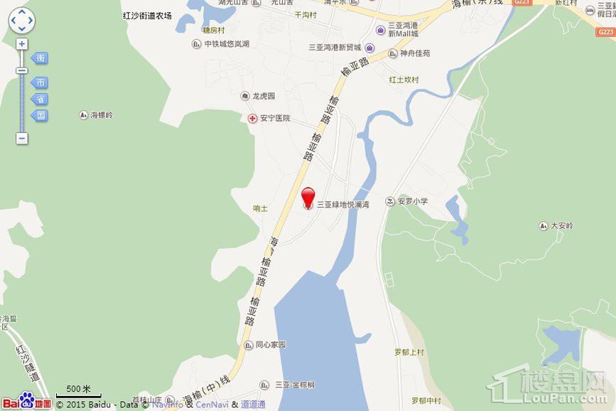 绿地·悦澜湾位置图