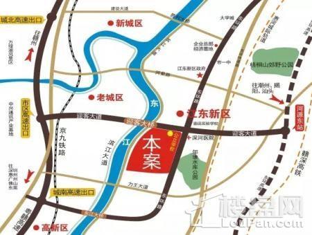 华南城十里东岸四期洋房位置图