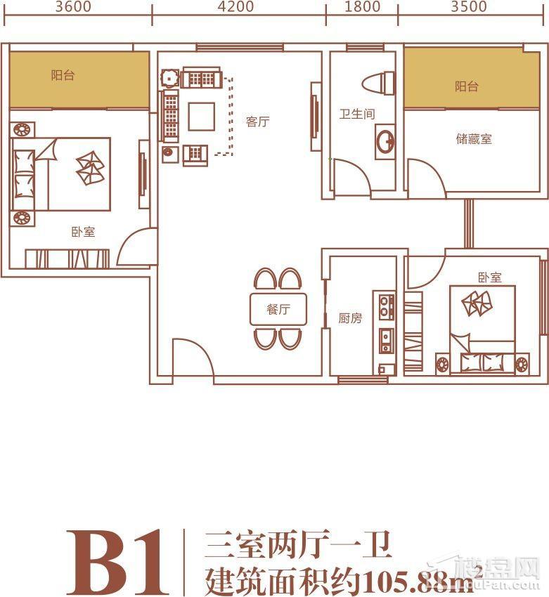浪琴湾2期B1户型图