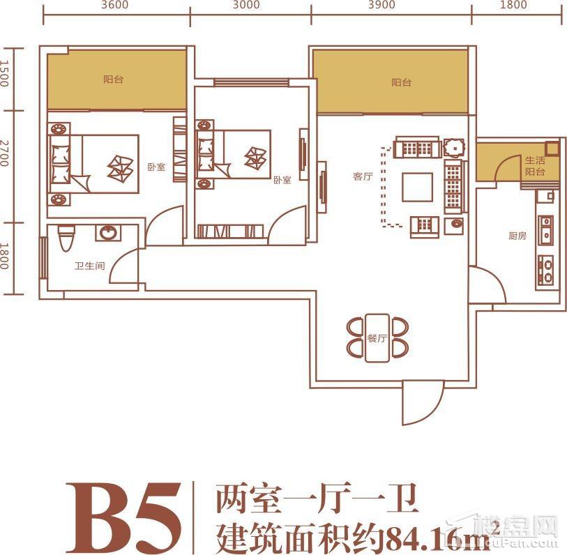 浪琴湾2期B5户型图
