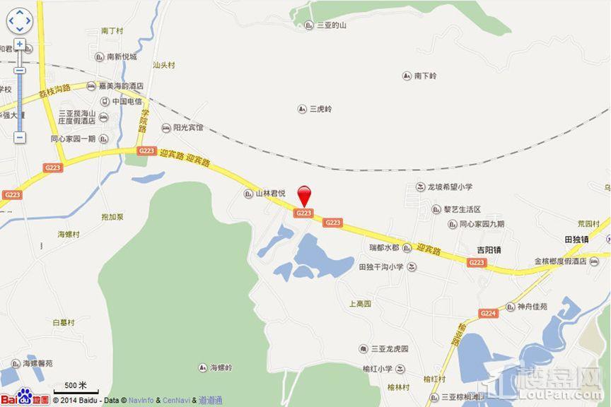 三亚依山云锦位置图