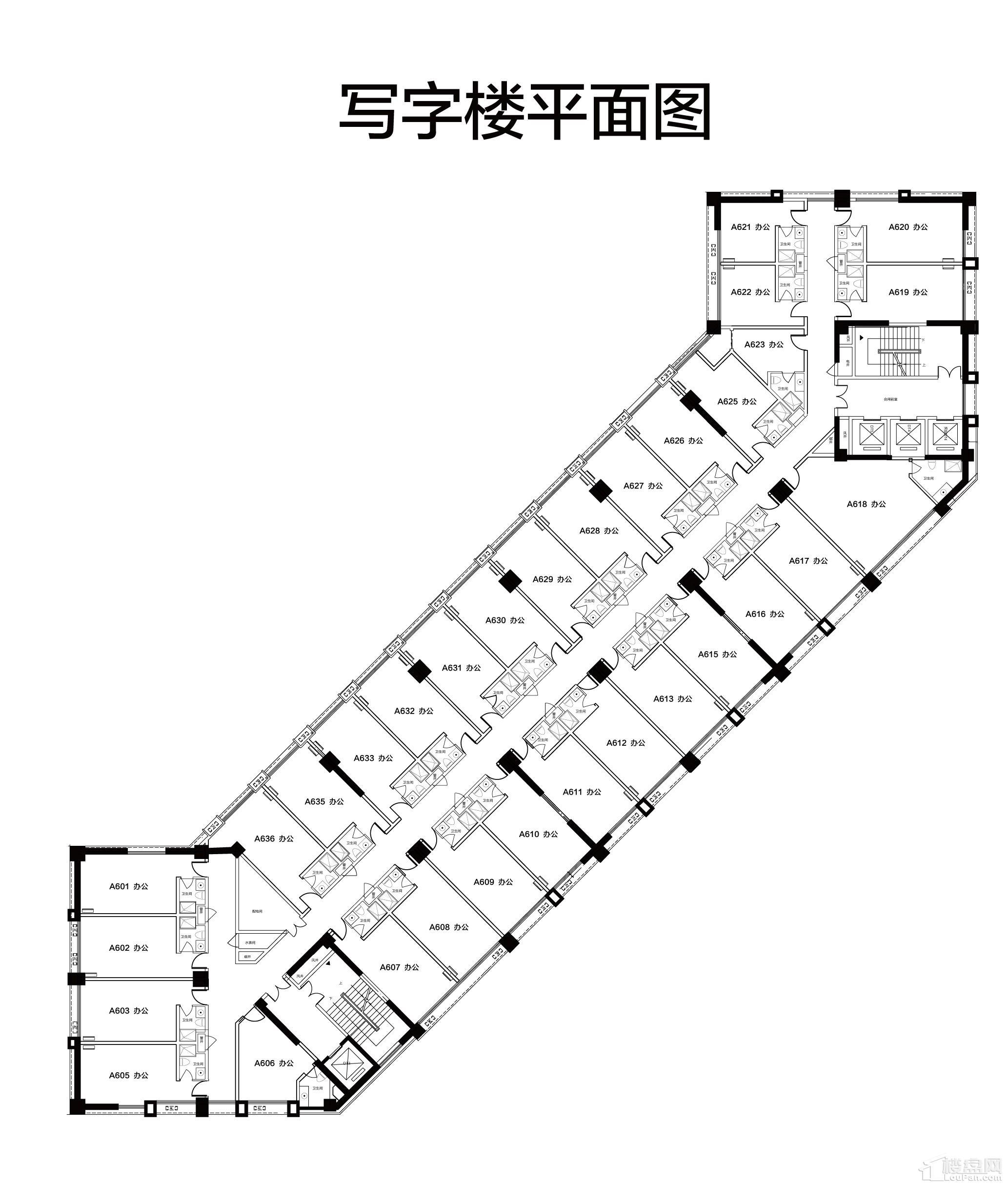 二期金宝大厦单层平面户型图