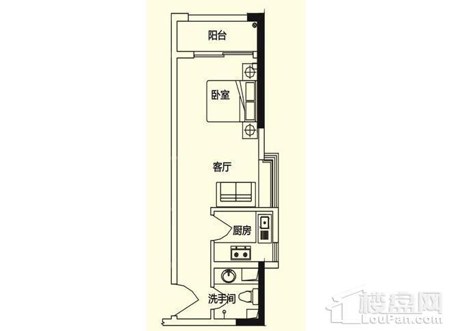 义方家园商务公寓C户型