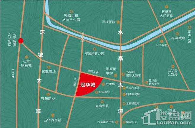 冠华城位置图