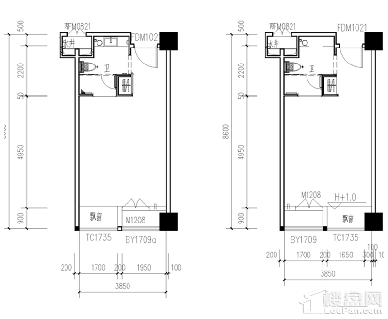 SOHO公寓户型图
