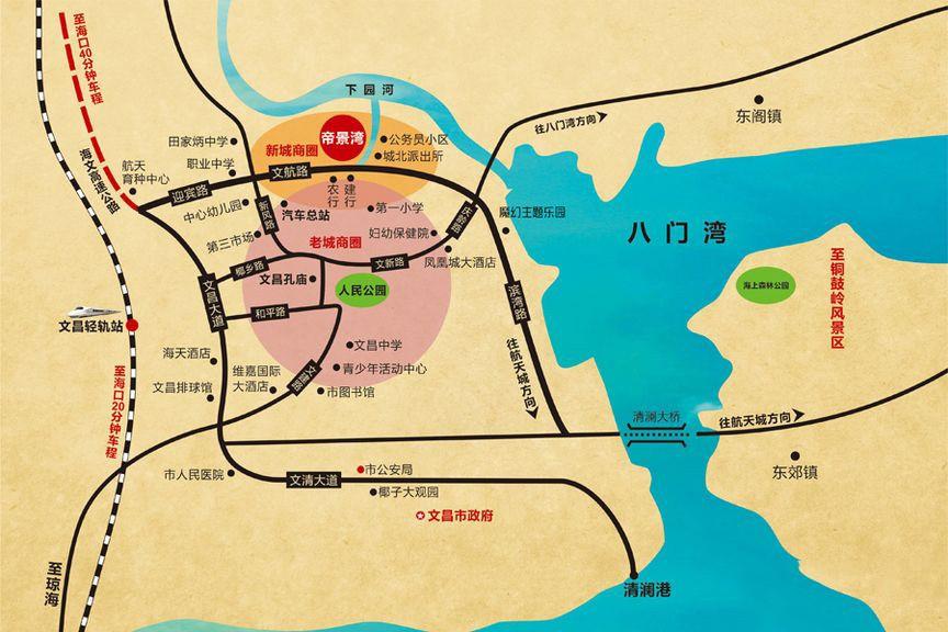 帝景湾位置图