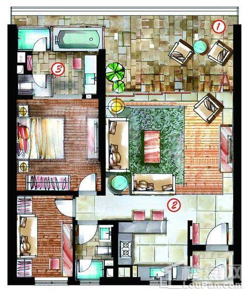 六期宽景观海公寓户型