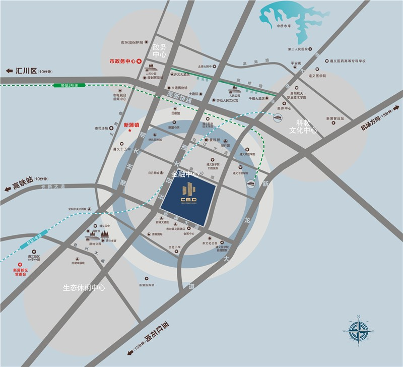 CBD(遵义金融商务中心)位置图