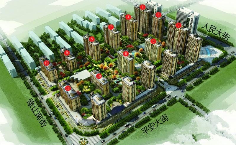 绿洲新城效果图