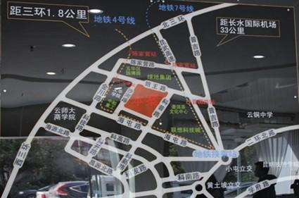 中铁云时代广场位置图