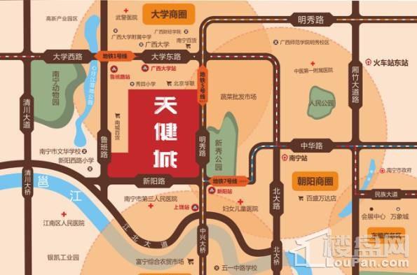 天健城位置图