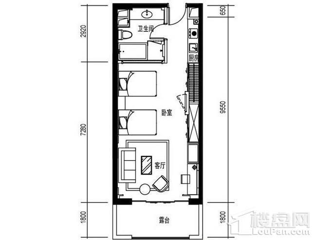 尚海华廷F2户型图