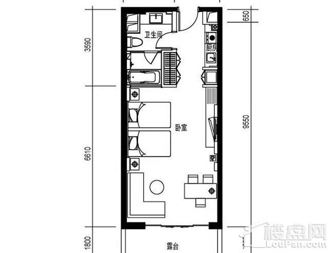 尚海华廷F1户型图